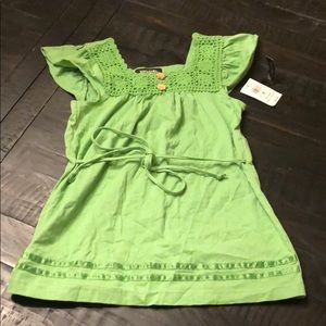 New with Tags- Girls green top